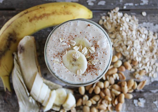 oat banan smoothie